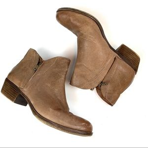 Lucky Brand Booties Size 9M Leather Tan LP-BRENON
